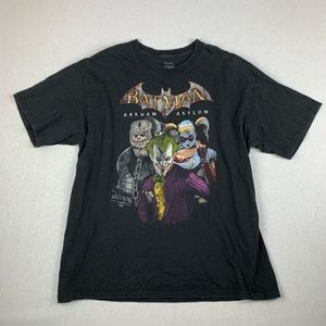 Vintage Batman Arkham Asylum Joker Black T Shirt